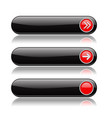 black oval buttons with red arrows menu interface vector image vector image