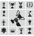 black trophy vector image
