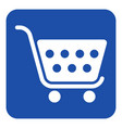 blue white information sign - shopping cart icon vector image vector image