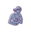 breastfeeding mother and balogo vector image