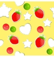 Bright strawberry cute wallpaper seamless pattern vector image vector image