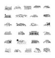 building cartoon clipart collection vector image