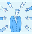 bullying at work adult man victim harassment vector image vector image
