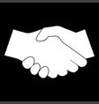 Business handshake icon vector image