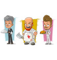 cartoon waiter and butcher character set vector image vector image