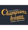 Championship league football typography Vintage vector image vector image