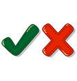 check and cross mark symbol vector image
