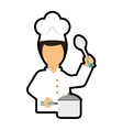 Chef cartoon icon Cooking and Menu design vector image
