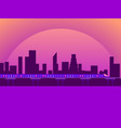 city view sunset cityscape with skyscrapers and vector image vector image