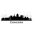 concord new hampshire city skyline silhouette vector image vector image