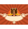 cowboy shoes vector image vector image
