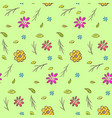 cute colorful naive hand drawn floral pattern vector image vector image