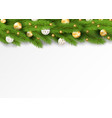 detailed seamless christmas garland realistic vector image vector image