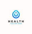 drop water monogram concept logo template vector image