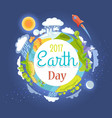 earth day 2017 promotional poster vector image vector image