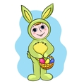 easter rabbit child vector image