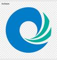 emblem of incheon vector image
