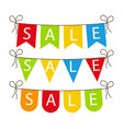 flag sale banner for celebrate sale fair vector image