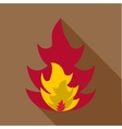 Flame icon flat style vector image vector image