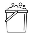 foam bucket icon outline style vector image vector image