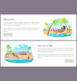 freelance distant work pages vector image vector image