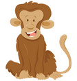 funny monkey animal character vector image vector image