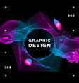 glowing shapes liquid dynamic flow on black vector image vector image