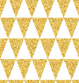 Gold glittering seamless pattern of triangles on vector image vector image