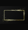 golden frame template with glitter effect vector image vector image