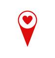 gps heart icon vector image vector image