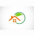 green house garden logo vector image vector image