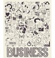 Hand drawn of business doodles elements vector image