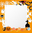happy halloween characters in cartoon style with vector image