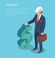 ivestor with businessman vector image vector image