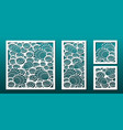 laser cut panel decor template abstract geometric vector image vector image
