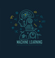 machine learning banner artificial intelligence vector image