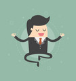 meditating businessman vector image