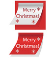 Merry Christmas written on paper vector image vector image