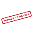 Mission To Heaven Text Rubber Stamp vector image vector image