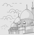 mosque line style vector image