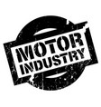 motor industry rubber stamp vector image vector image