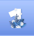 number one winter natural vector image vector image