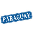 paraguay blue square grunge retro style sign vector image vector image