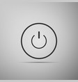 power button icon on grey background start sign vector image