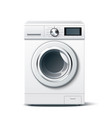 realistic washing machine white 3d mockup vector image vector image