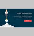 rocket businessman website header template vector image vector image