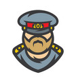 russian policeman officer vector image vector image