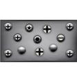 screws on metal plate vector image vector image