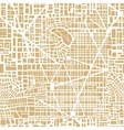 Seamless map city plan vector image vector image