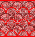 seamless pattern with red circle kaleidoscope vector image